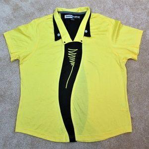 JAMIE SADOCK Yellow & Black GOLF Jersey SHIRT New